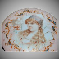 Elegant & Fabulous Footed Victorian Dresser Box w/ Portrait of Little Girl