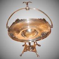 1880's - 1890's Victorian Quadruple Plated Cake Basket