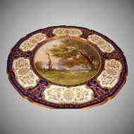 1900's Fine Artist Signed Hand painted Scenic Royal Doulton Cabinet Plate