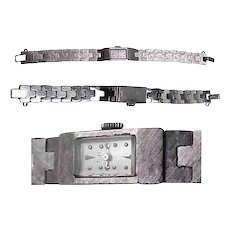 Baume & Mercier 17 Jewel 14K White Gold Ladies Watch