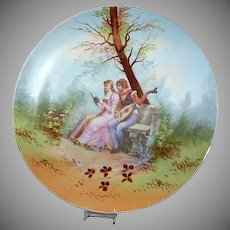 "Romantic Couple / Romeo & Juliet 13 1/2"" Limoges France Plaque"