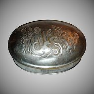 Art Nouveau Metal Soap Box