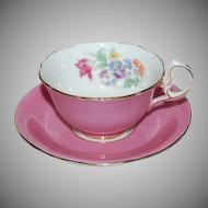 Beautiful Pink Aynsley Cup and Saucer