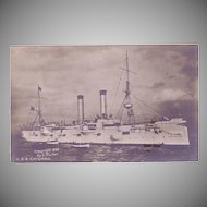 RPPC U.S.S. Chicago Postcard