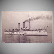 "RPPC Postcard with Photographic Image of ""USS Cincinnati"""