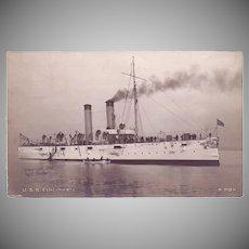 "RPPC Postcard with Photographic Image of ""USS Cincinnati"""