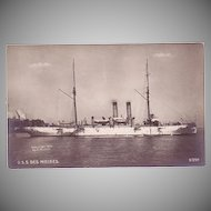 "RPPC Postcard with Photographic Image of ""USS Des Moines"""