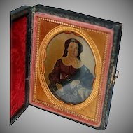 Antique Paper Cased Ambro Type Photograph