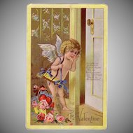 Beautiful Embossed Exceptional Valentine Postcard