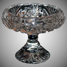 1890's Heavy Brilliant Period Cut Glass Compote