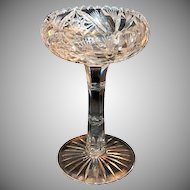 1890's Brilliant Period Cut Glass Tall Heavy Compote