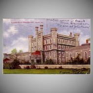 "Postcard "" Illinois State Penitentiary Dated 1907 """