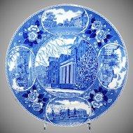 "Blue & White Souvenir Plate ""Jacksonville, Illinois"""
