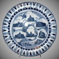 "Blue & White Souvenir Plate ""Denver Colorado"""
