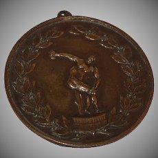 Bronze Olympic Discus Medallion
