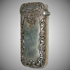 Sterling Silver Ornate Decorated Match Safe