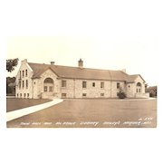 "RPPC ""Town Hall & McArdle Library Bailey's Harbor Wis."""