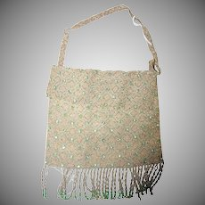 Delicate & Dreamy Vienna Austria 1900's Evening Beaded Pouch Bag