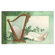 Postcard St Patrick's Day Artist Signed Ellen H. Clapsaddle dated 1908