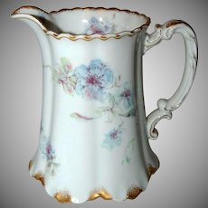 Antique Haviland Limoges Porcelain Milk Jug /Pitcher w/ Floral Design
