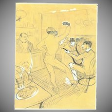 "Postcard ""French Black Dancer & Musician"" Toulouse-Lautrec"