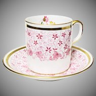 Sweet Little Raspberry Demitasse Cup & Saucer Set