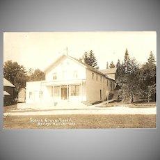 """RPPC Photograph of """"Scenic Grove Resort in Baileys Harbor Wisconsin"""""""
