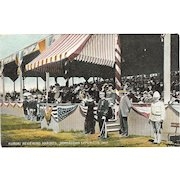 "Postcard of Kuroki Reviewing Marines, "" Jamestown Exposition 1907 """