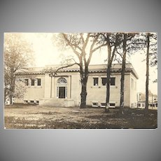 """RPPC Photograph """" Public Library in Forest Grove Oregon"""""""