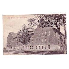 "Postcard ""High School Grand Haven , Mich."""