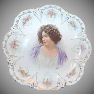 "circa 1890's 10 5/8"" Portrait Plate marked ""Empire China """