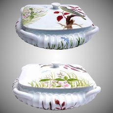 Hand Painted Haviland H & Co. France Covered dish dated 1881