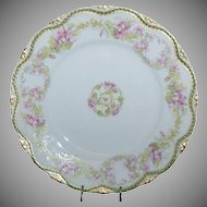 "Beautiful Haviland 9"" Luncheon Plate w/ Pink Violets Floral pattern"
