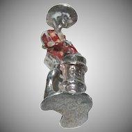 "Sterling Silver charm for Charm Bracelet w/ Enameled ""Cuban Bongo Drums Man"""