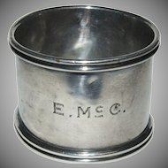 Early 1900's Gorham Sterling Silver Napkin Ring