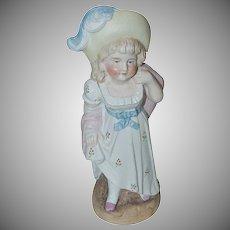1890's Victorian Bisque Little Girl Figurine looks like Kate Greenaway Character