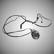 Sterling Locket with Black Cord Necklace