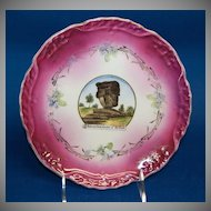 "1890's - 1900's Wheelock Souvenir Plate of the ""Balanced Rock, Garden of the Gods"""