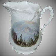 "1890's - 1900's Souvenir Pitcher of ""Mt. Hood Portland Oregon """