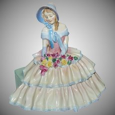 "Circa 1935 - 1949 Gorgeous Royal Doulton Figurine ""Daydreams HN 1732"""