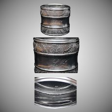 19th Century Gorham Sterling Silver Napkin Ring #12