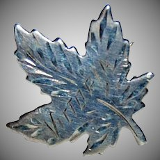 Sterling Maple Leaf Pin Souvenir of Victoria