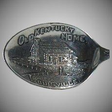 """Sterling Silver Souvenir  Spoon of """"Louisville, Kentucky """""""