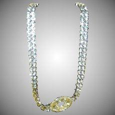"16 7/8"" Dazzling Huge Eisenberg Ice Jewelry Rhinestone Choker Necklace"