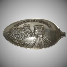 "Sterling Silver Souvenir Spoon ""Pikes Peak Colorado"""