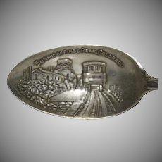 """Sterling Silver Souvenir Spoon """"Pikes Peak Colorado"""""""