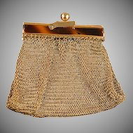 Small & Petite Gold Mesh Antique Coin Purse