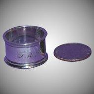 1890's Small Dutch Silver Baby's Napkin Ring