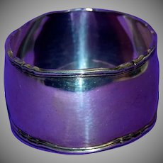 1880's Very Large & Heavy Silver Napkin Ring