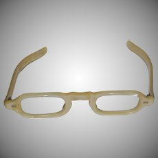 Marbleized Pale Yellow Mother of Pearl Small Plastic Frames